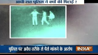 CCTV: Youths beaten up by cops for not giving money in Jodhpur