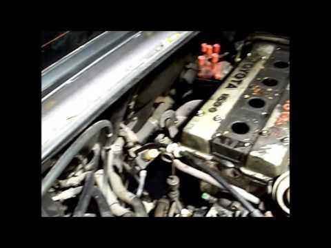 Как вытащить двигатель 4A-GE 20 Valve из моторного отсека