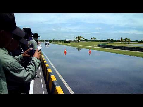 Toyota Corolla Altis Brake Test with ABS and Wet Surface @ 80 kph