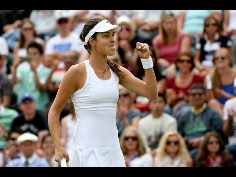 Ana Ivanovic vs Jie Zheng Wimbledon 2014 Highlights