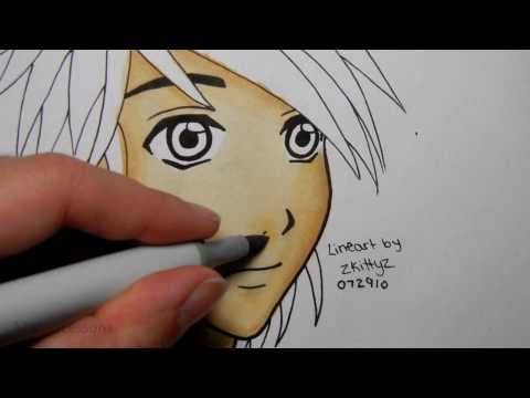 How to Colour Manga Skin with Copics