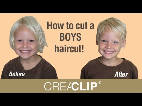 Hairstyle Youtube Boy : How to cut a BOYS haircut! Easy kids haircutting at home. - YouTube
