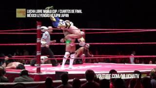 México Leyendas vs AJPW Japan, en Lucha Libre World Cup. - Duration: 1:47.