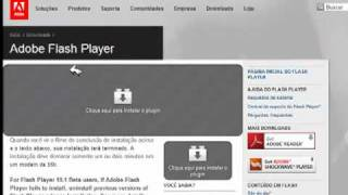 COMO INSTALAR ADOBE FLASH PLAYER ATUALMENTE 2010