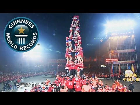Tallest Human tower (Failed Attempt) -- Video of the Week 11th April -- Guinness World Records