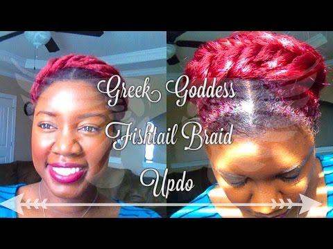 Greek Goddess Crown Braid Tutorial   Protective Style