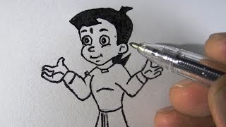How To Draw Chotta Bheem For Kids Step By Step With