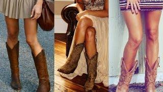 Outfits con botas vaqueras