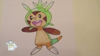 [Tutorial] How To Draw Chespin From Pokemon X And Pokemon