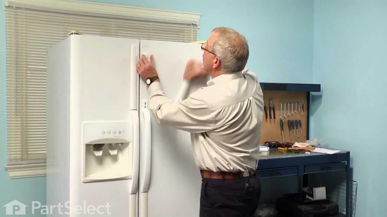 Refrigerator Repair Replacing The Door Handle Frigidaire