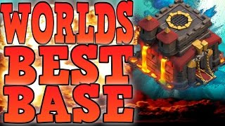 CLASH OF CLANS WORLDS BEST TOWN HALL 10 TROPHY BASE