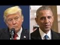 Comparing media coverage of Trump, Obama protests
