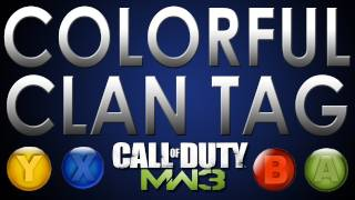 Modern Warfare 3: Change Color Of Clan Tag And Gamertag