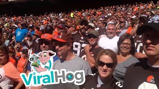 Lone Ravens Fan Trolls a Sea of Browns Fans