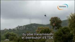 Pose de pylônes en Corse