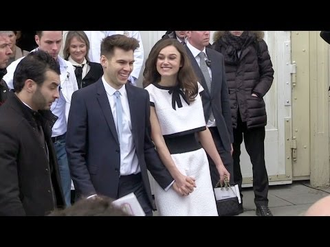 Keira Knightley And Hubby James Righton Show some PDA at Chanel Show In Paris