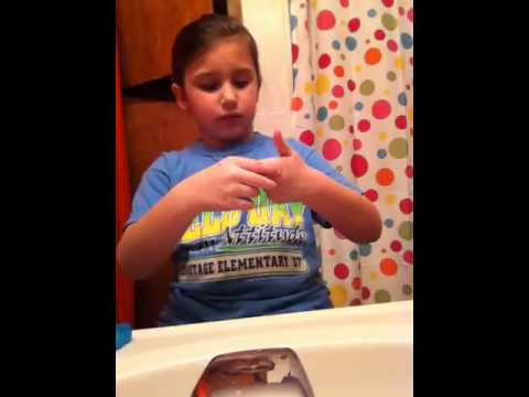 6yr Old Telling You How to Brush and Floss Your Teeth! Pay Attention