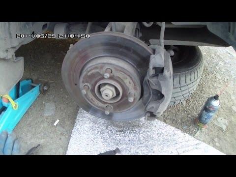 Замена передних тормозных колодок Форд Фьюжн видео инструкция
