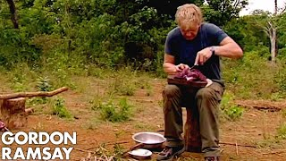 Gordon Ramsay Cooks Buffalo For A Cambodian Tribe | Gordon's Great Escape