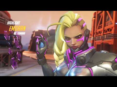 Overwatch Highlight #18 Sombra [Rein stop chasing me :/] 1080p