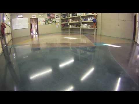 How to stain polish concrete floors youtube for How to polish stained concrete