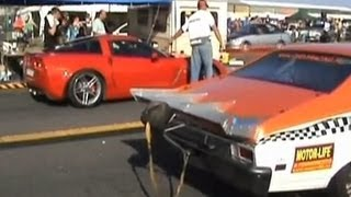 Chevy Nova SS Vs. Chevrolet Corvette Z06 Drag Race