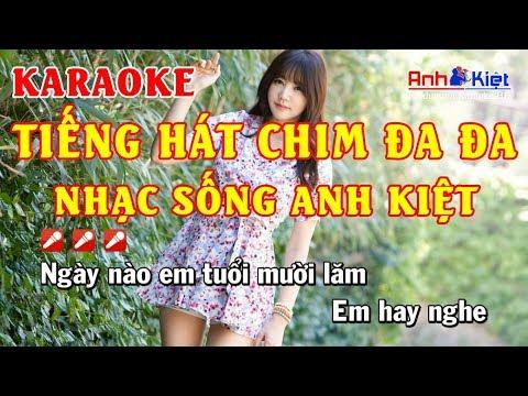 Karaoke | Tiếng Hát Chim Đa Đa | Remix | Tone Nam | Karaoke Nhạc Sống Anh Kiệt