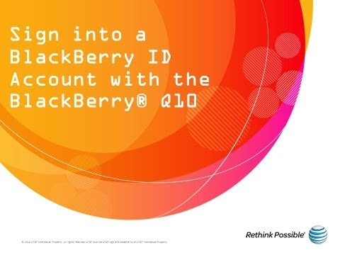Sign Into a BlackBerry ID Account with the BlackBerry® Q10