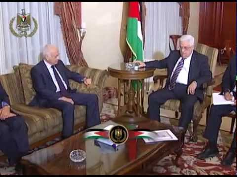 President Abbas Receives the Secretary General of the Arab League Nabil Elaraby