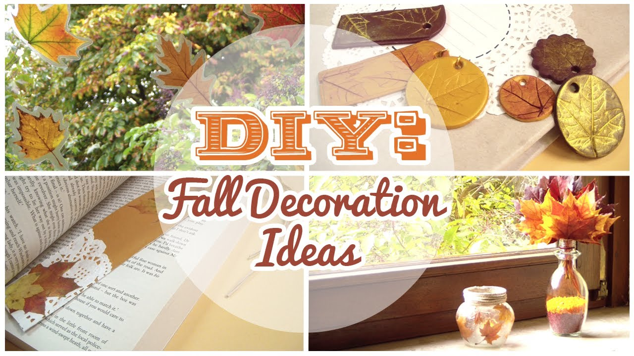 diy 4 easy fall decorations youtube