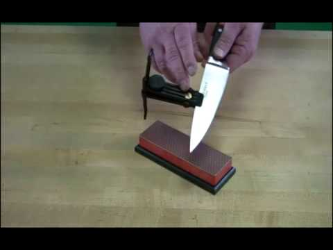 Video of DMT® Guided Sharpening with W6F Diamond Whetstone