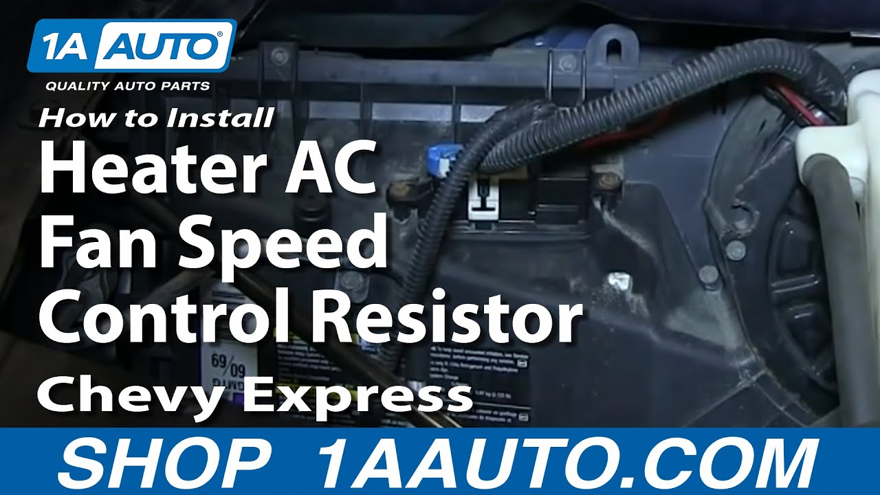 install replace heater ac fan speed control