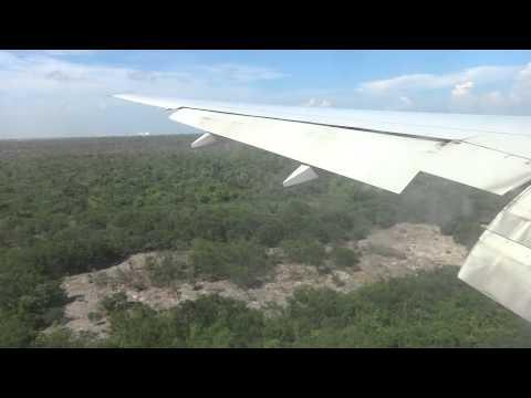 British Airways, landing in Cancun. July 21st 2015.