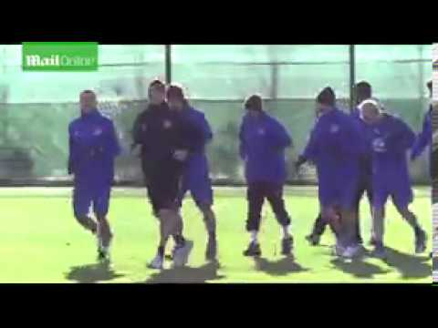 Thomas Hitzlsperger training with Everton back in the day