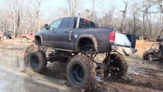 EPIC STUCK!! NEW DODGE MUD TRUCK SINKS AND FILLS WITH