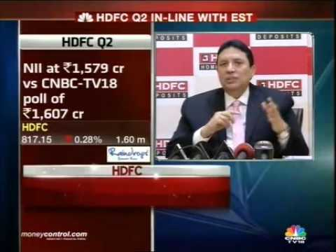 HDFC posts 19% loan growth in Q2: Keki Mistry -  Part 1