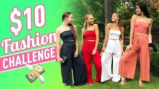 $10 Fashion Challenge in 10 Minutes! | The Rybka Twins