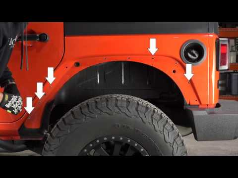 Fishbone Offroad Tube Fenders For Jeep Wrangler JK Install