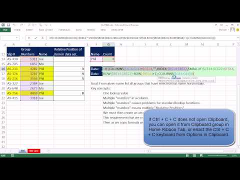 Excel Magic Trick 986 One Lookup Value, Extract Multiple Items, Display Horizontally (A Closer Look)