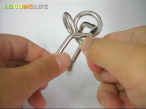 LOCOMO - Metal Wire IQ Magic Puzzle Brain Teaser - YouTube