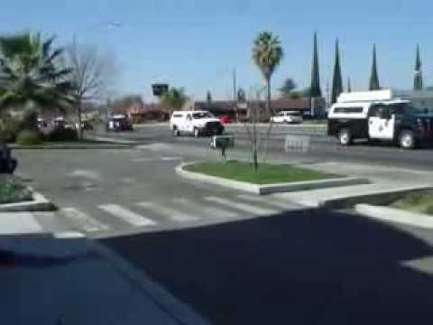 CHP Officers Funeral Procession Fresno/Clovis, California.