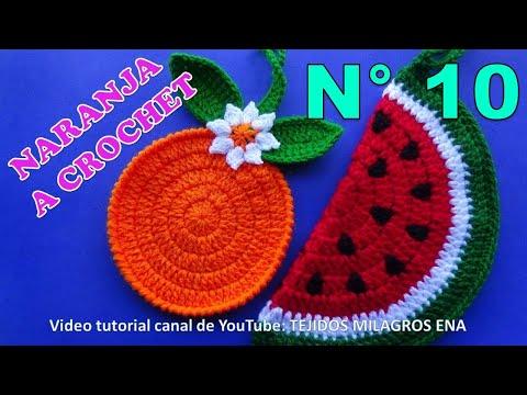 MANUALIDADES A CROCHET PARA VENDER, naranjas tejidas para agarraderas de ollas paso a paso