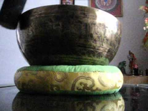 Mantra Carved Crown A Chakra Tibetan Bowls - Beaten Hammered Singing Bowls