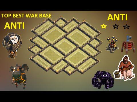 Clash of Clans - Town Hall 9 ( Th9 ) War base 2015 ANTI Gowipe ANTI Lava + Balloon