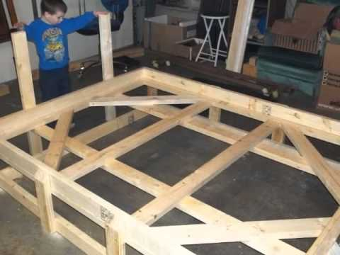 Custom Bed Frame from 2x4's - YouTube