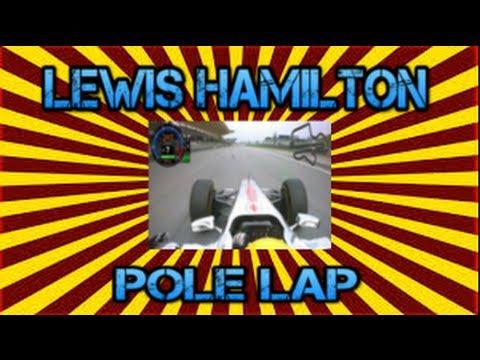 Lewis Hamilton Great Britan Pole Lap 2013 (David Coulthard Going Through Lap)