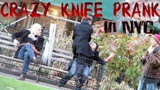 [Crazy Knife Prank in NYC! Public Pranks Episode 2] Video