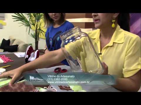 Mulher.com 13/08/2013 Isamara Custodio - Pote de Vidro Decorado com Maça P 1/2