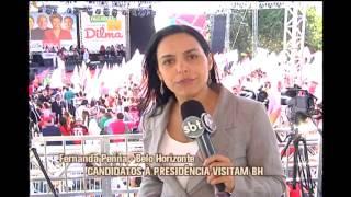 BH recebe visita de A�cio e Dilma