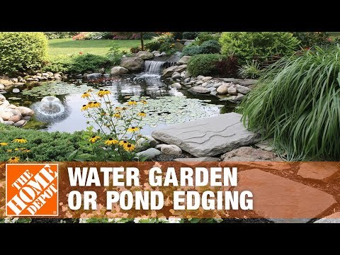How To Install A Water Garden Or Pond Edging The Home Depot Youtube